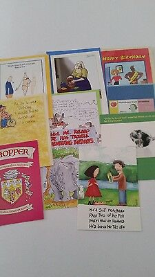 Job Lot Of 10 Quality Assorted Humerous Birthday Cards