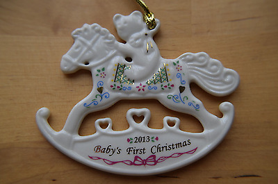 Lenox 2013  Baby's First Christmas Rocking Horse Ornament
