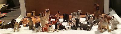 Vintage Miniature Dollhouse Lot of 25 Resin / China Dogs - Pets - Fairy Garden