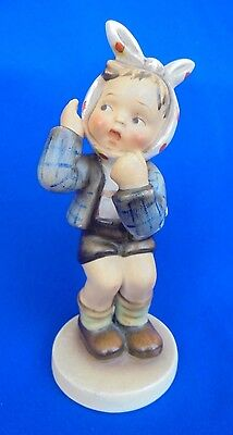 Vintage Hummel Boy With Toothache – 1950's Backstamp A/F