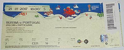 Russia - Portugal 2017 Used Ticket Fifa Confederations Cup