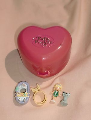 """Bluebird Polly Pocket  """"bathtime Fun Ring And Ring Case"""" - 1991 - 100% Complete"""
