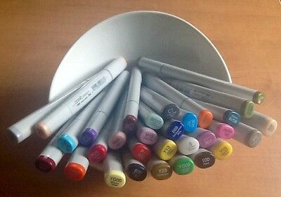 New Copic Sketch Marker Lot, 30 Pieces, (1)