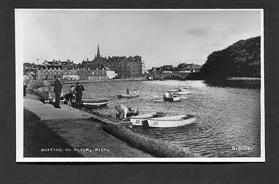 Wick Caithness - Boating on River RP c1960