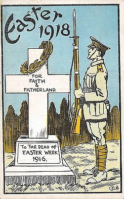 POSTCARD  MILITARY   IRELAND     EASTER  1918  Memorial  to  the  Dead