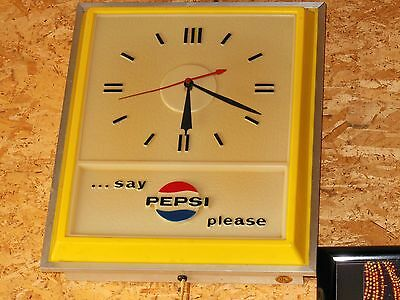 Vintage Advertising Pepsi-Cola Sign Wall Clock