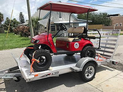 Golf Cart with Utility (motorcycle) trailer