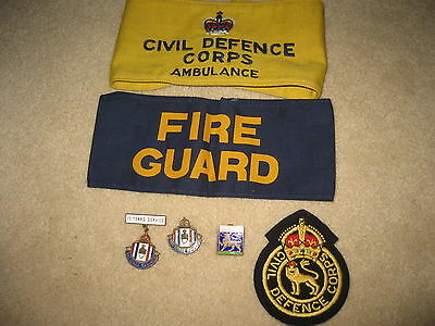 WW 2 Home Front Armbands and Badges