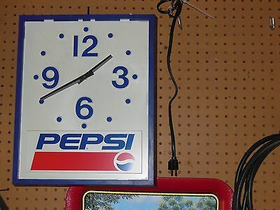 PEPSI Cola Hanging Wall Clock Plastic