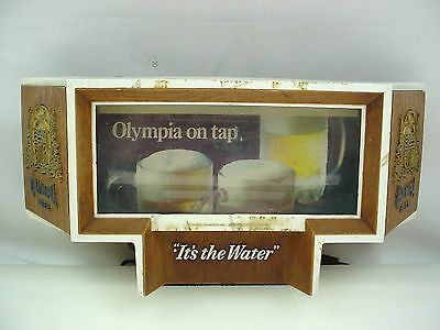 Vintage Olympia Beer Sign Olympia On Tap Cash Register Lighted Sign L@@k