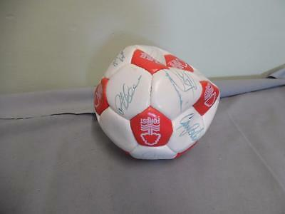 Signed Nottingham Forest Ball - Nigel Clough & others
