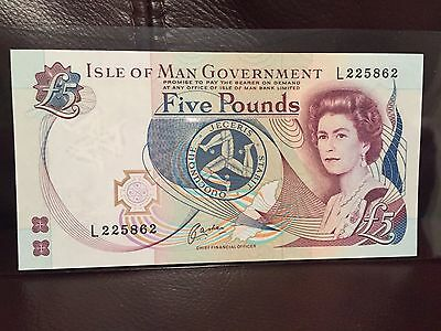1983 Isle Of Man 5 Pounds Banknote