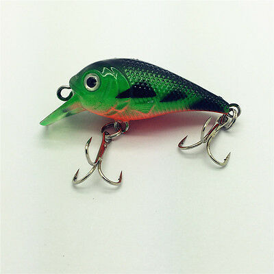 Minnow 5.5g/5.4CM Plastic Fishing Lures Bass Crankbait Crank Bait Tackle GF21