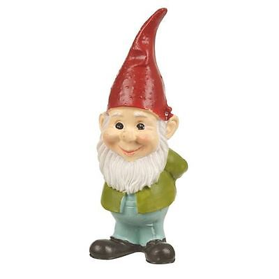 Gnome Standing with Red Hat Small Garden Ornament Statue Figurine