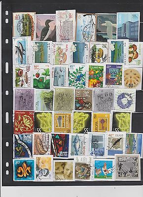 iceland stamps kiloware. 150 pieces from 2000-2016
