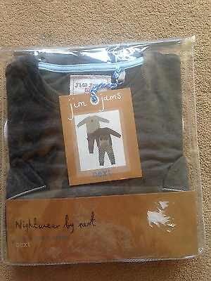 BNWT NEXT 2 Pack Racoon Bear Long Pyjamas 12-18 Months