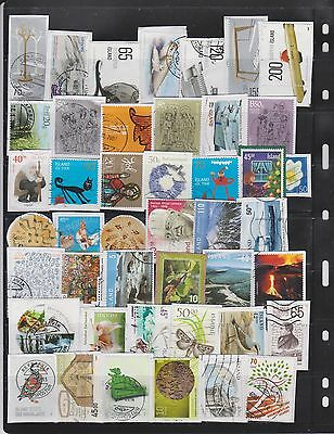 iceland stamps kiloware. 193 pieces from 2000-2017