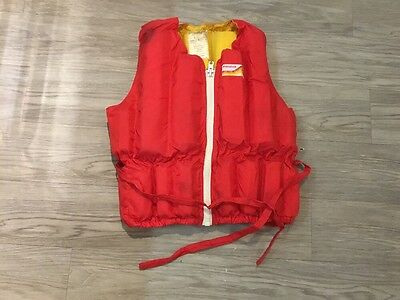 45cm Wide By 50 Cm High Bouancy Aid Not A Life Jacket Red And Yellow