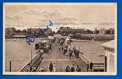 Old Postcard Clacton On Sea From Pier Essex Nr Frinton Colchester Walton