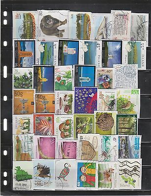 iceland stamps kiloware. 152 pieces from 2000-2016