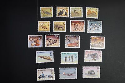 Zimbabwe #614-31 1990 VF MNH complete definitive set cv$24.35 (v038)