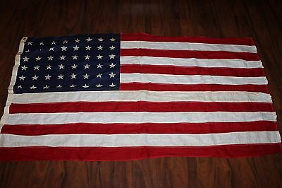 Original Large Size WW2 Era U.S. National 48 Star Cloth Flag w/Tag, 5' by 3'