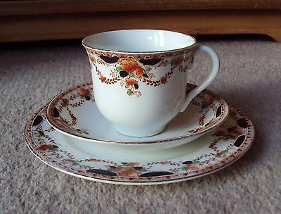 Antique Teacup Saucer & Tea Plate Trio Fine Bone China Dated 1890's -1910's VGC