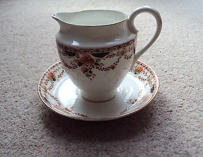 Antique Jug Cream or Milk & Saucer Fine Bone China Dated 1890's - 1910's VGC