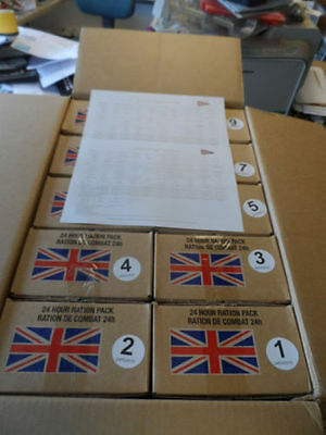 10x British Army 24 Hour Ration Box Prepper Fishing Camping Hiking scouts Food A