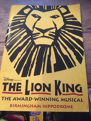 The Lion King Programme Birmingham Hippodrome