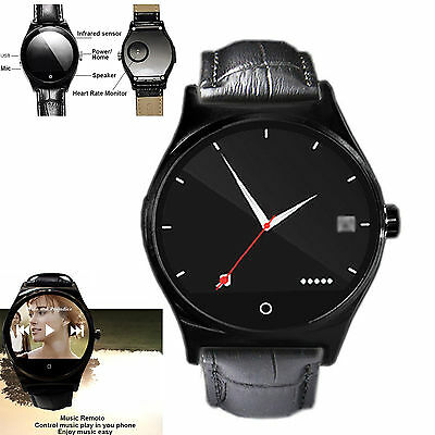 Touch Screen Heart Rate Monitor Bluetooth Smart Watch Phone Mate For iOS Android