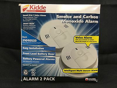 Kidde Smoke and Carbon Monoxide Alarm - 2 Pack (21010533)  *NEW*