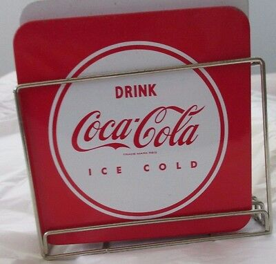 Coca Cola Art Deco Drink Coasters Set of 4 Estate sale item Reproduction? fun~