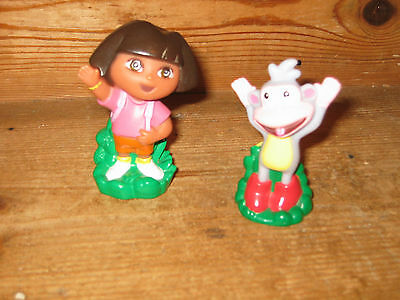 Mattel Viacom 2003 Dora The Explorer  & Boots Monkey Animal Stand Playfigures