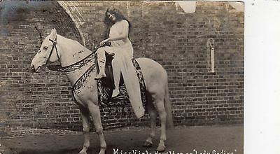 Vintage Postcard Miss Viola Hamilton Lady Godiva Pageant Coventry Horse Rp