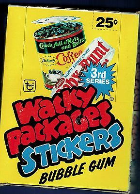 Vintage Wacky Packages Topps 1980 Series 3 Unopened Box 36 Packs