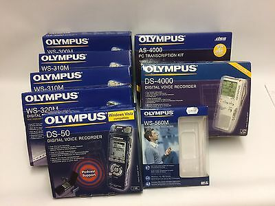 Olympus Only boxes + some equipment DS-4000, AS-4000, WS-560M, DS-50 and more