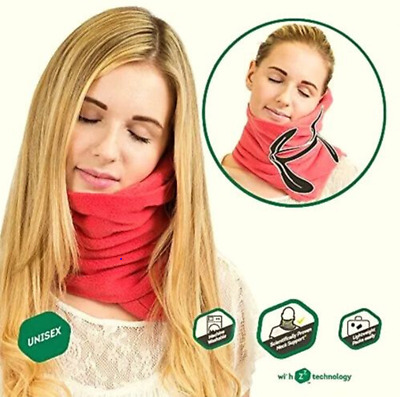 AUTHENTIC TRTL Pillow Scientifically Proven Super Soft Trtl Neck Support - Red