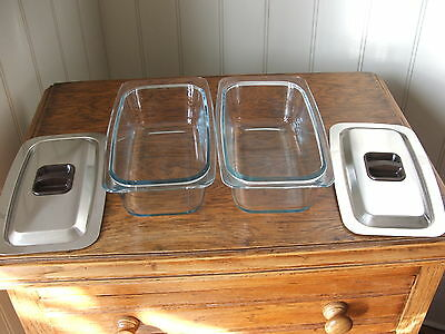 2 Ecko Hostess Trolley Dishes  With Lids