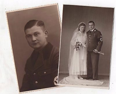ORIGINAL PERIOD GERMAN WW2 PHOTOS-rad wedding with dagger-PORTRAIT