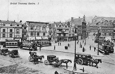 "Old Postcard ""bristol Tramway Centre"""