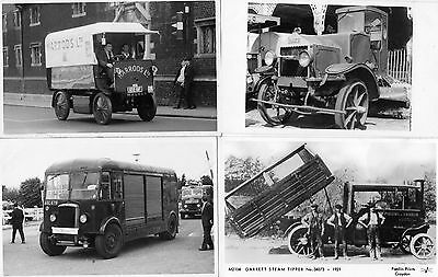 8 Postcard Size Photographs Of Commercial Vehicles - Please Look