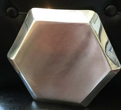 Tiffany & Co. Makers Very Heavy Sterling Silver Octagonal Tray, W/mono And Date