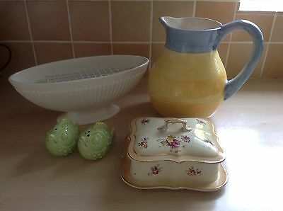 Bundle Of Collectable Pottery Items. Includes Wedgewood Bowl,
