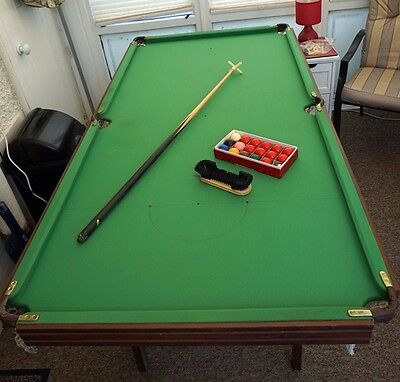 Snooker Table 6'x3' Folding Legs Green Baize