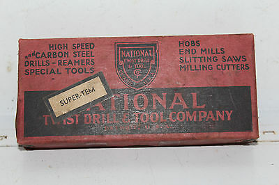Vintage NOS National Twist Jobbers Drill H.S. Straight Shank 21/64 Airco Welding