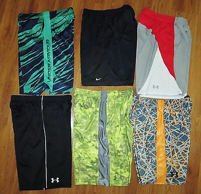 Lot 6 Boy's XL UNDER ARMOUR NIKE Loose Ultimate Printed Athletic Shorts size YXL