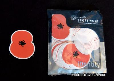 Official Rare Poppy Day Football Shirt Patch/Badge Sporting ID 1 x patch only