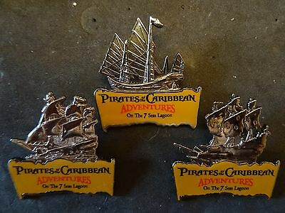 Disney Pirates of Caribbean Ships Black Pearl Flying Dutchman Emperess 3 pins