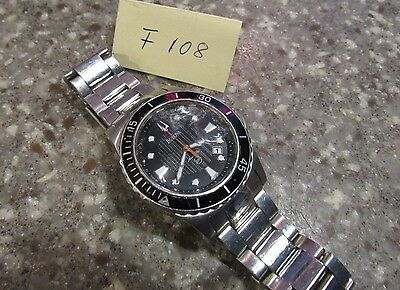 Bulova Marine Star For Parts Or Repair Men's Watch  F108